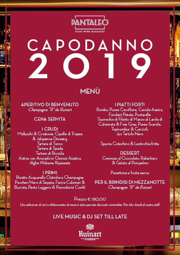* Pantaleo Capodanno 2019 Roma *